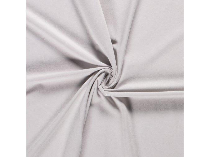 Bavlnený jednostranný úplet svetlučko sivý