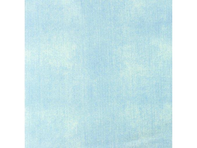Bavlnený jednostranný úplet svetlý jeans odretý vzhľad