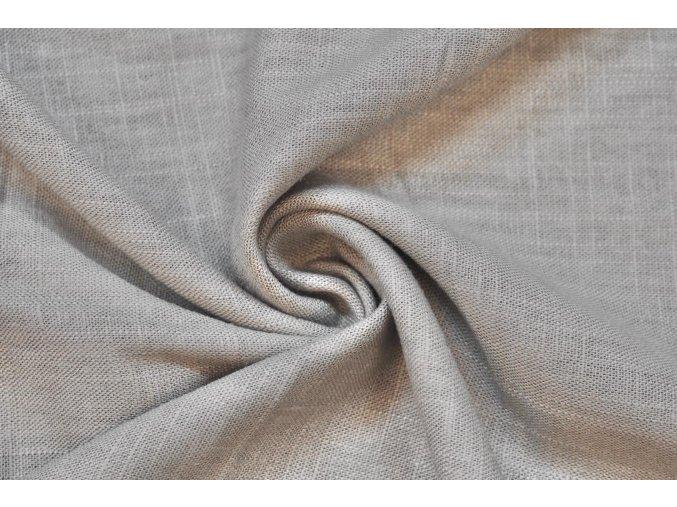 Ľanová tkanina sivá