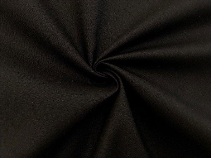 Popelín čierny