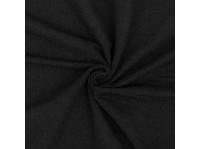Teplákovina elastická čierna 290 g / m2