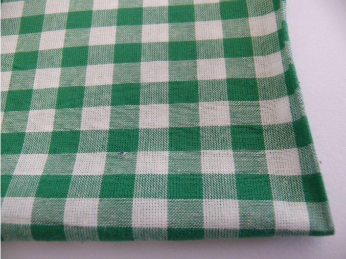 Bavlna kanafas kocky zelené