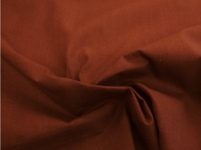 Bavlnené plátno čokoládovo hnedé
