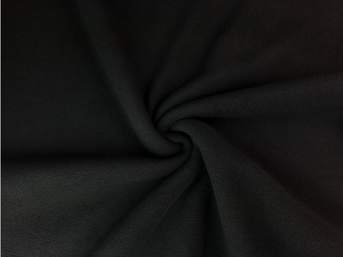 Flanel fleece čierny
