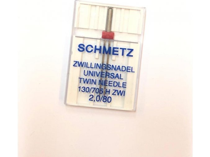 Ihly strojové Schmetz dvojihla universal 80, rozpätie 2 mm