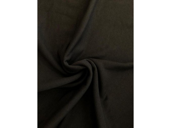 Teplákovina počesaná čierna 340 g / m2