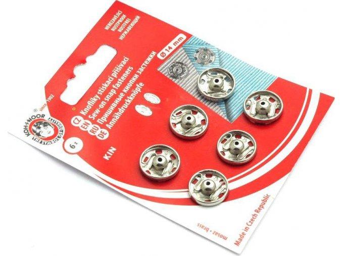 Stláčacie prišívacie gombíky kovové KIN