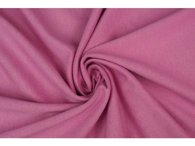 Viskózový úplet tmavší ružový
