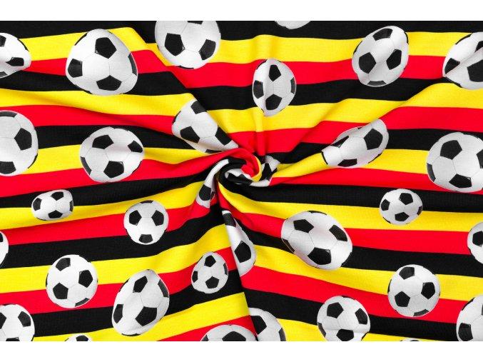 Bavlnený jednostranný úplet futbalové lopty na pruhoch digi tlač