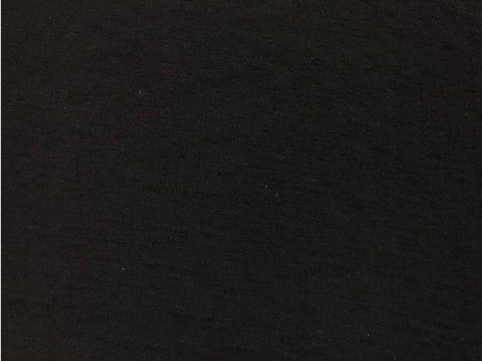 Úplet s plastickým vzorom čierny