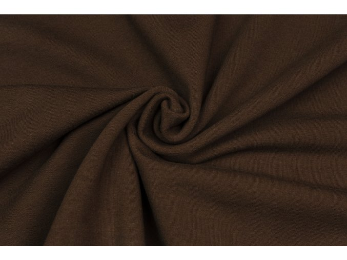 Teplákovina elastická čokoládová hnedá 290 g / m2