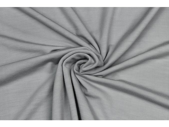 Merino vlna jednostranný úplet bledosivý