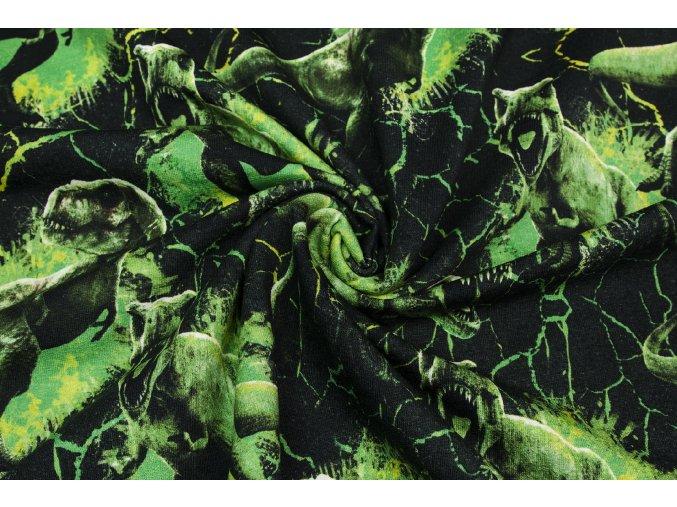 Teplákovina Jurský svet so zelenými dinosaurami