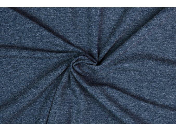 Teplákovina jeans melír 290 g / m2