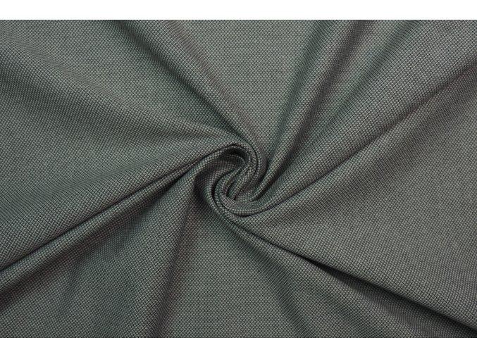 Tkanina elastická čierna melanž