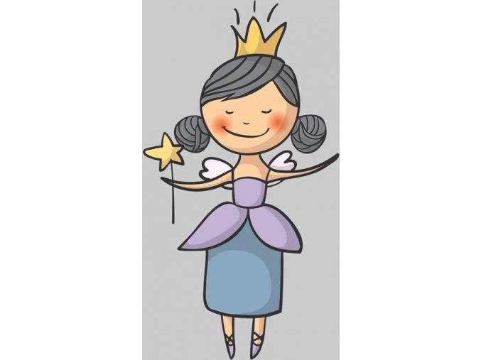 Panel teplákovina usmievajúca sa princezná