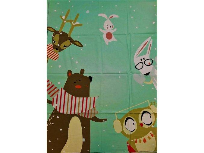 Panel zimné zvieracie radovánky
