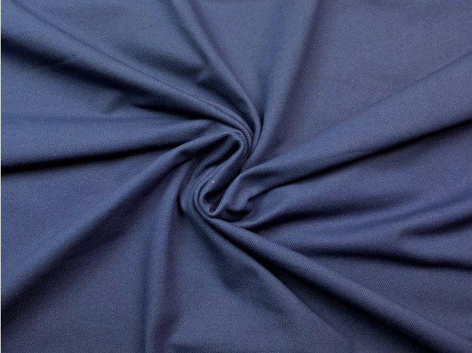 Bavlnený úplet vysokogramážny jeans - farba jeans