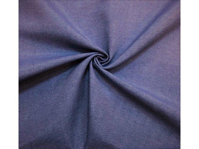 Bavlna režná modrý melír