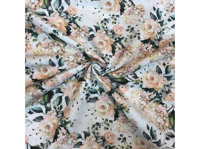 Režná bavlna ruže k bordúre