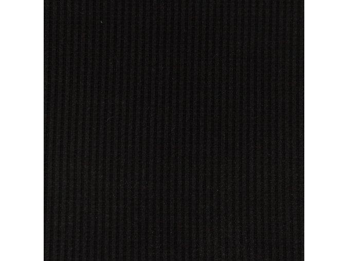 Bavlnený úplet vzhľad vafle - čierna