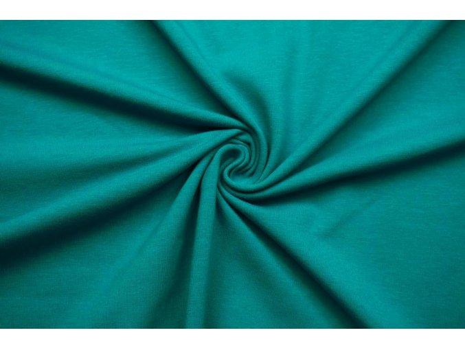 BIO bavlnený úplet jednostranný smaragdový 200 g/m2