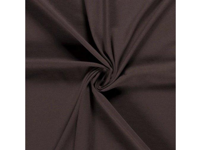 BIO bavlnený úplet jednostranný čokoládová hnedá 200 g/m2