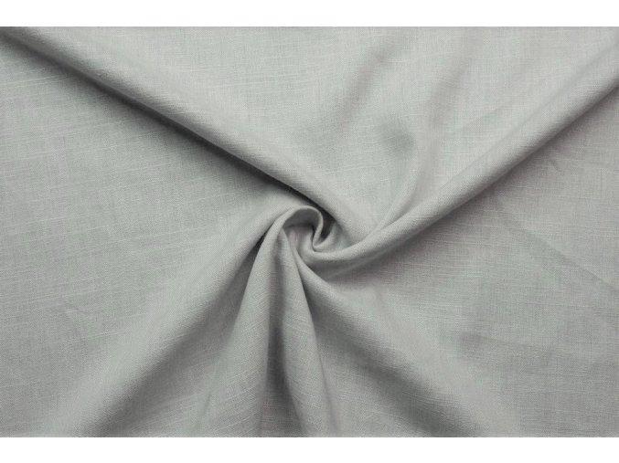 Ľanová tkanina bledučká sivá