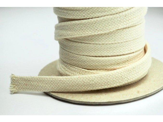 Bavlnená šnúra knôt - dutinka 1,2 cm režná