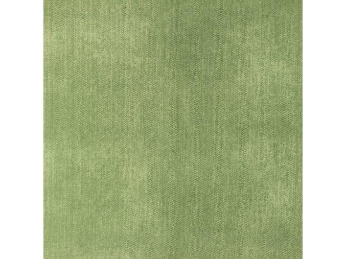 Bavlnený úplet zelený odretý vzhľad