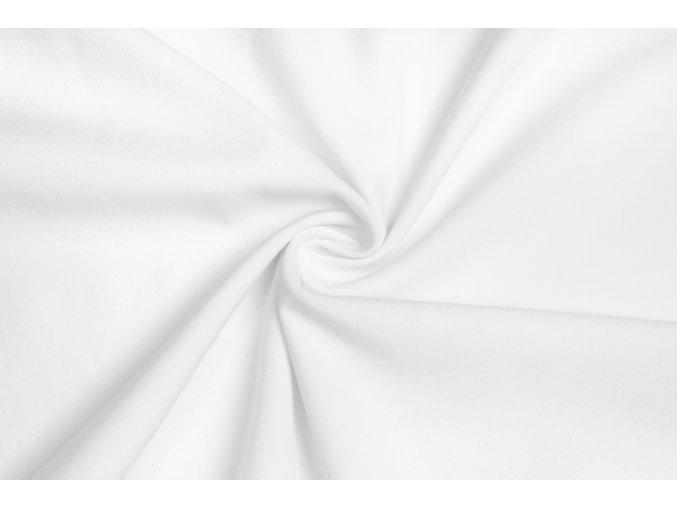 Viskózová tkanina strečová biela