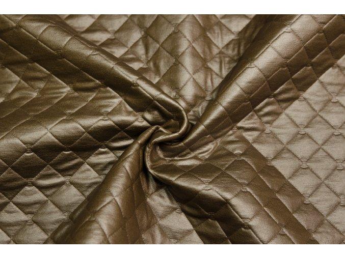 Polyesterový úplet prelis hnedý nepremokavý