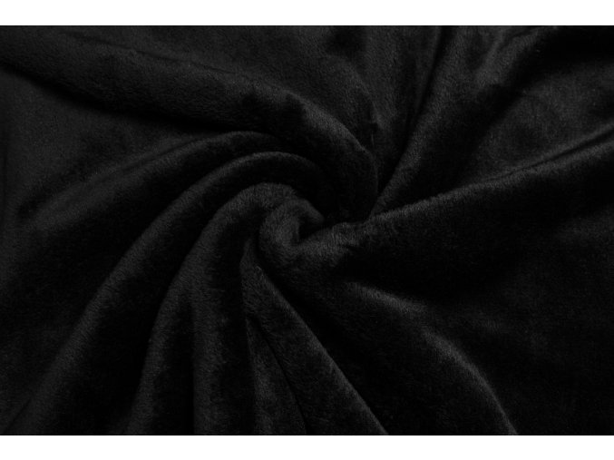 Cuddle fleece čierny 300 g/m2
