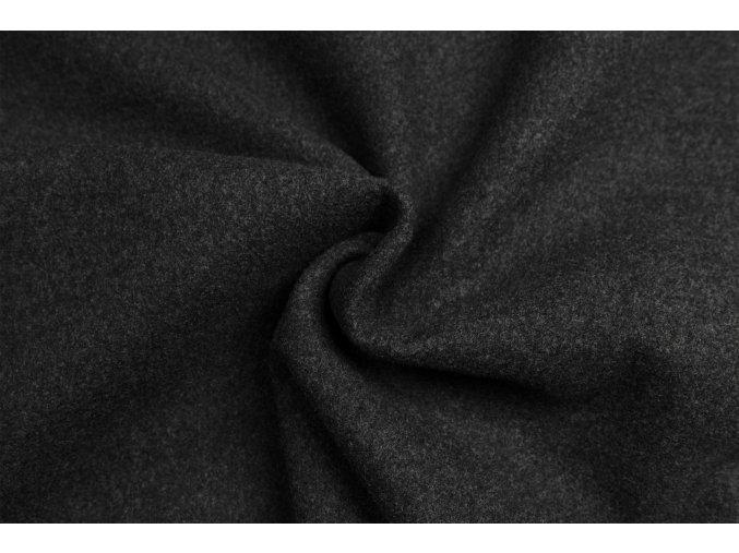 Flauš kabátový tmavosivý