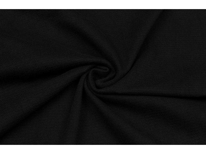 Teplákovina elastická čierna 320 g