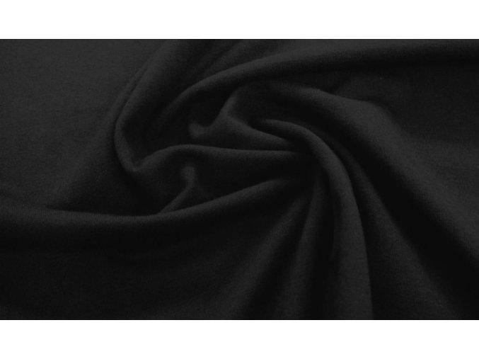 Jednostranný úplet elastický čierny 185g