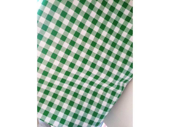 Bavlna kocky zelené