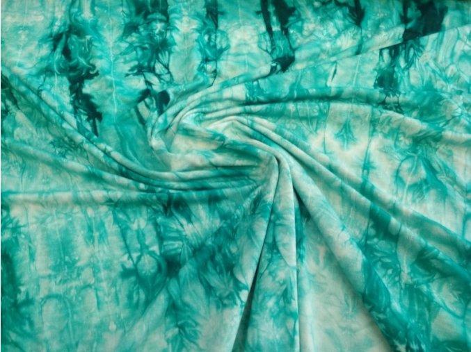 Bambusový úplet smaragdová batika 2