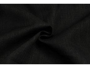 Ľanová látka čierna