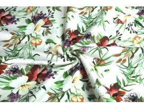 teplákovina začarované květy