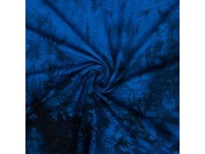 Bambusový úplet modrá batika