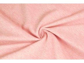 Bavlněný úplet jednolíc elastický ružové melé1