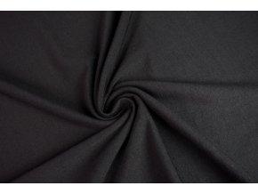 Merino vlna úplet jednostranný čierny