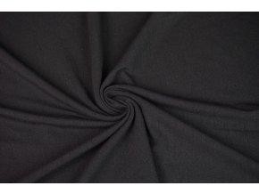 Úplet jednostranný čierny - 100 % Merino vlna
