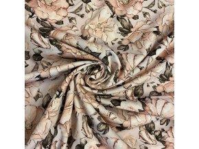 Bavlnený satén ruže na staroružovej digitálna tlač