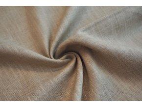 Lněná tkanina hnedá světlá1