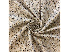 bavlnene platno modre kvitky s vetvickami na ecru.uvod