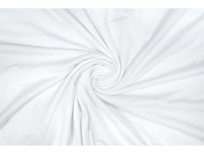 Jednostranný úplet tencel modal – biela