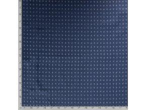 Rifľovina kotvičky na svetlejšie modrej