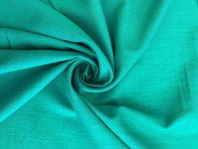 Ľanová tkanina pávia zeleň